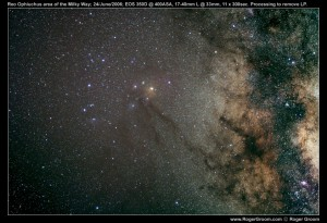 Rho Ophiuchi in the Milky Way