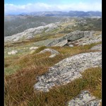 Snowy Mountains from above Thredbo