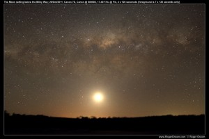 The Setting Milky Way with Moon