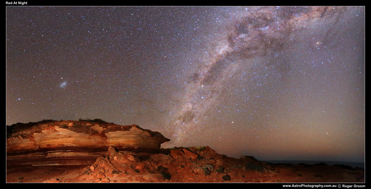 Red Rainbow Gorge with Milky Way at Kalbarri National Park