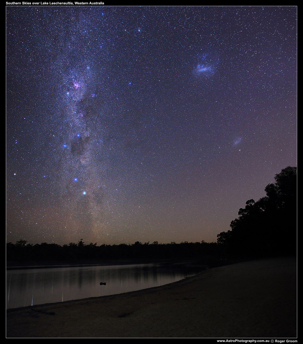 Milky Way Lake Beach