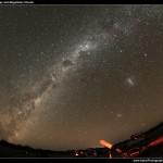 The Milky Way with Iridium Flare
