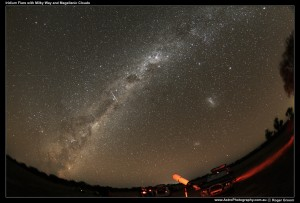 The Milky Way with Iridium Flare