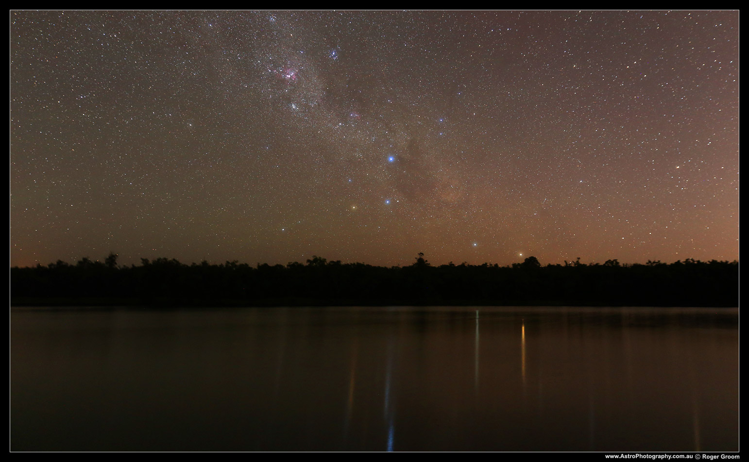 Starry Night Reflections at Lake Leschenaultia