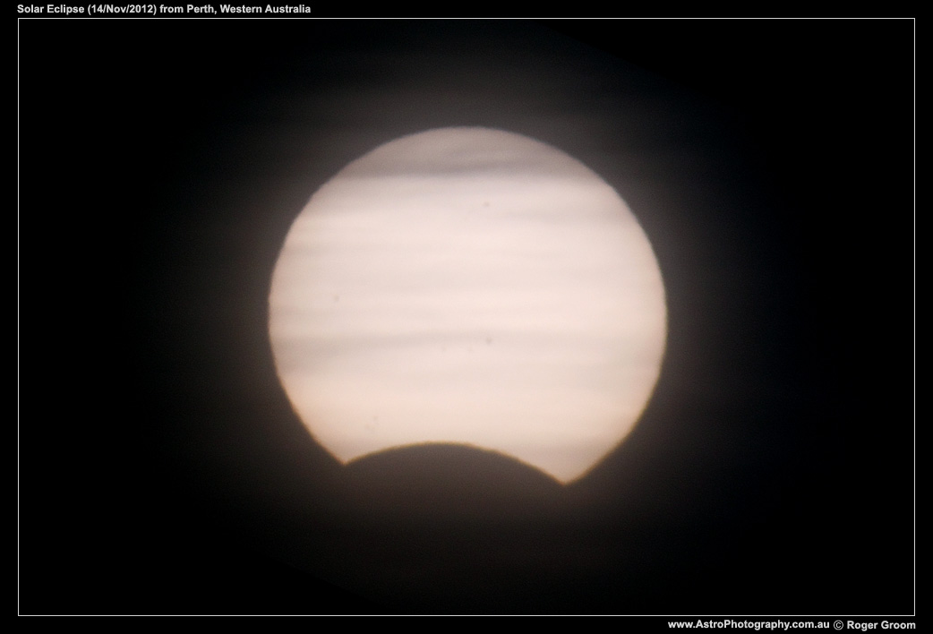 Solar Eclipse - partial phase (shortly after sunrise)