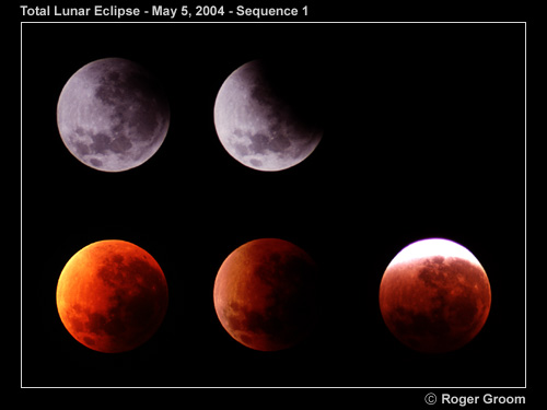 Total Lunar Eclipse 5th May 2004 sequence