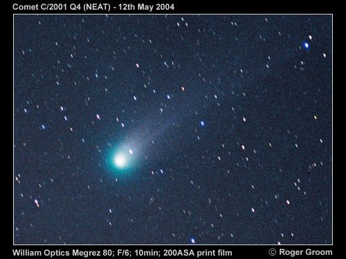 A photograph of Comet C/2001 Q4 (NEAT)