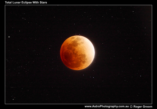 Total Lunar Eclipse with Stars