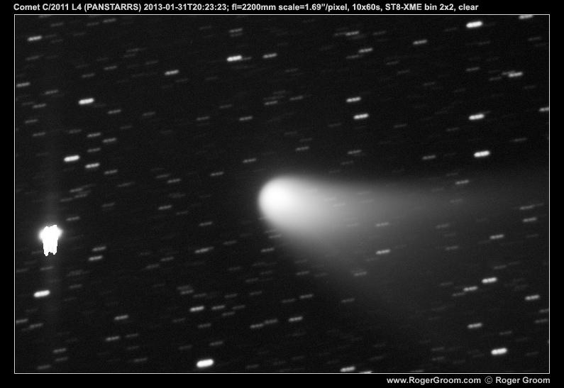 Photograph of Comet C/2011 L4 (PANSTARRS) 2013-01-31T20:23:23;