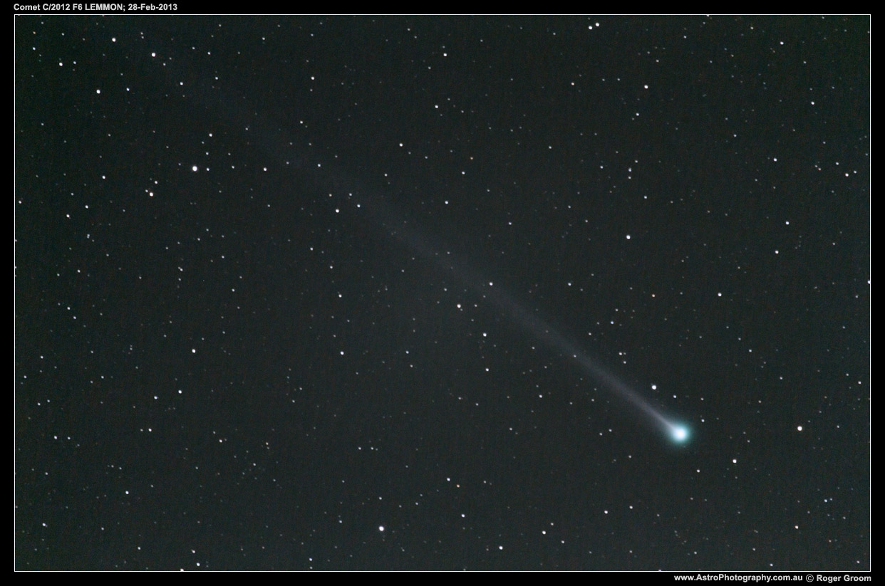 A photograph of Comet C/2012 F6 LEMMON on 28th February 2013