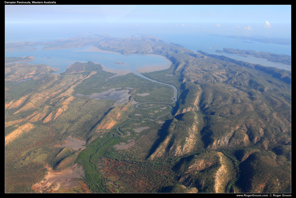 Photograph of the Dampier Peninsula from the air