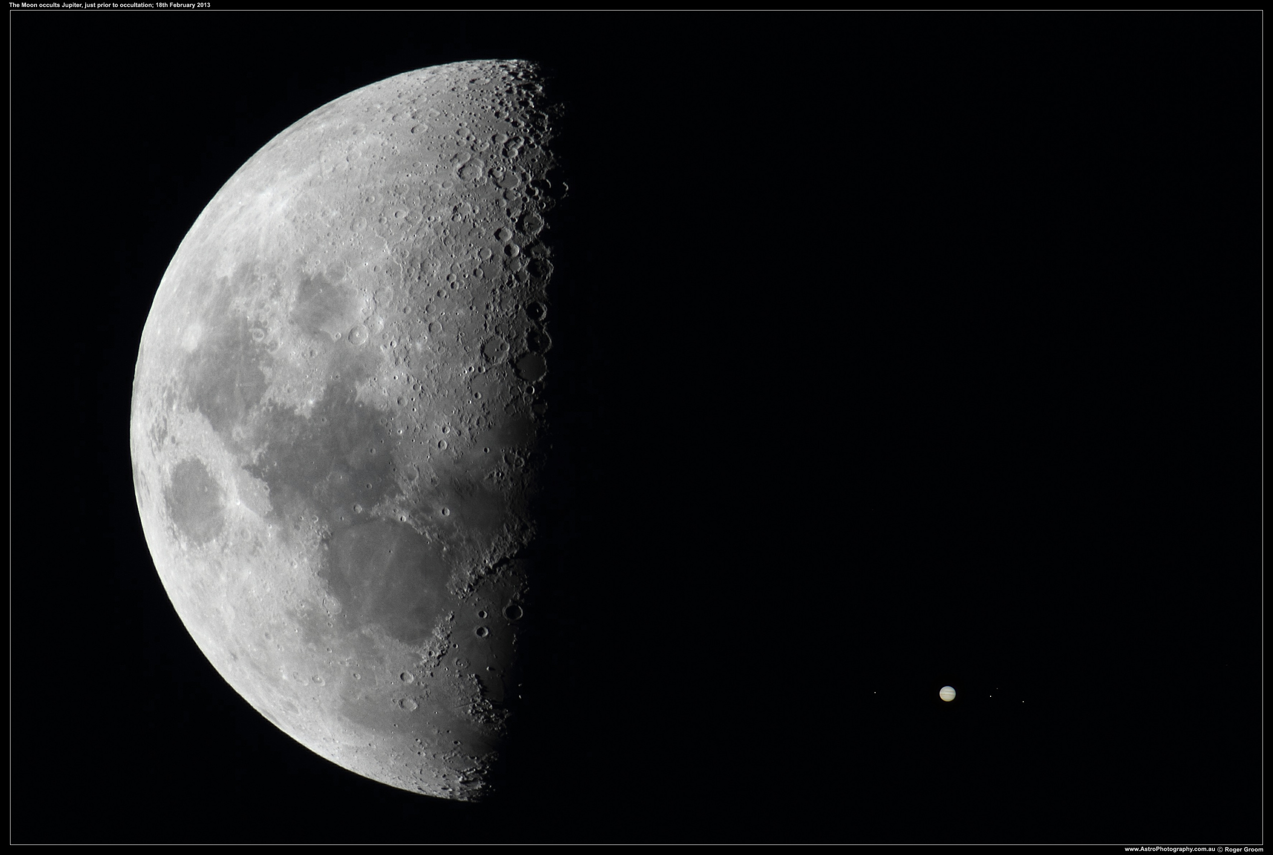 The Moon with Jupiter (occultation)