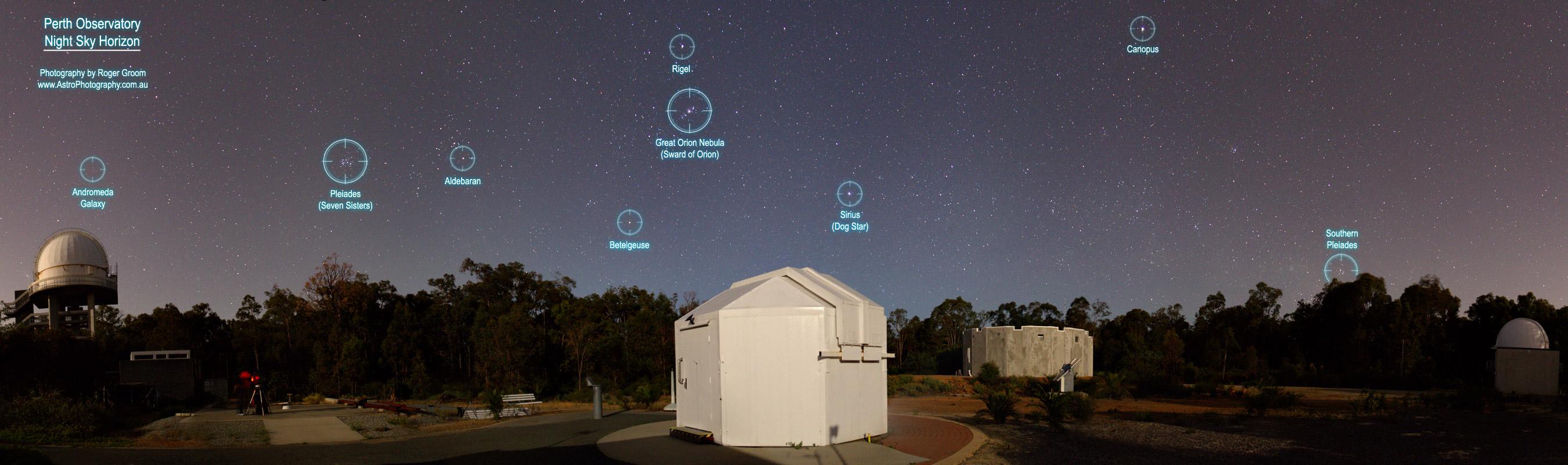 Perth Observatory Night Sky Horizon