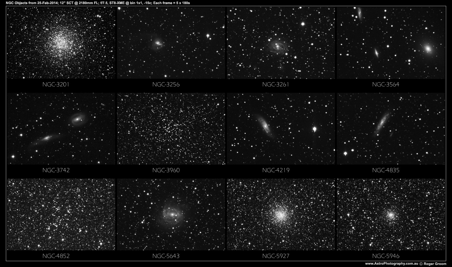 NGC Objects 25th February 2014