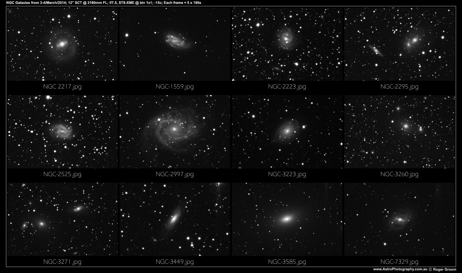 NGC Galaxies 5th March 2014