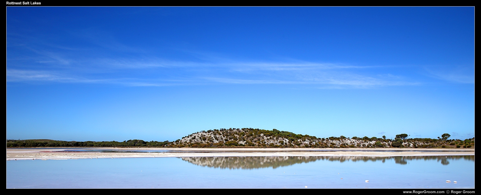 Rottnest Island Salt Lakes (Pearse and Serpentine Lakes).