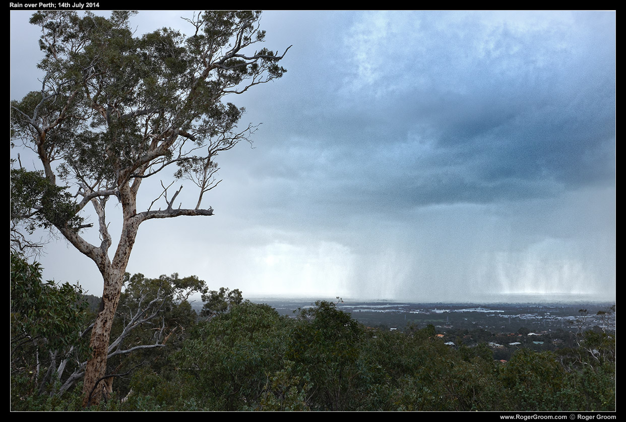Rain Storms from John Forrest National Park, 14th July 2014.