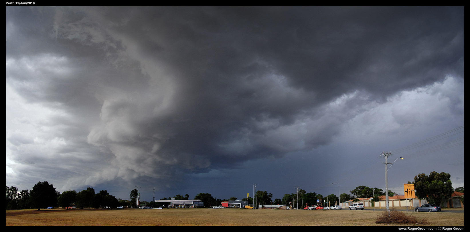 19th January 2016 Perth storm clouds.